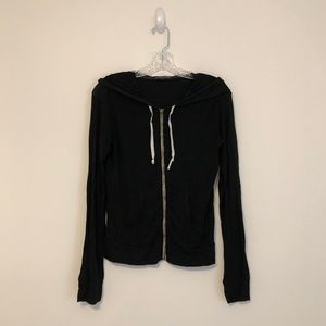Brandy Melville Lightweight Black Zip Up Hoodie